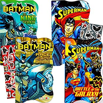 2b5c5c2e4032 DC Comics Batman vs Superman Board Books for Toddlers - Set of 4 Books (2