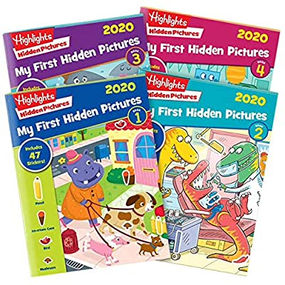 Highlights My First Hidden Pictures 2020 4-Book Set: Toys & Games