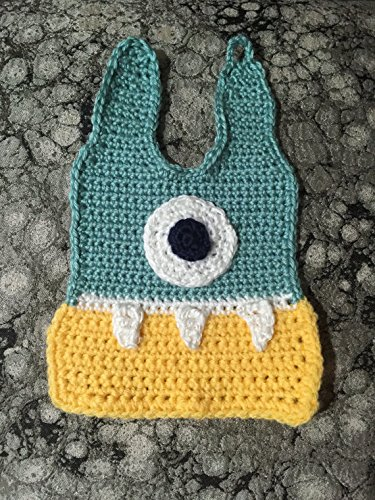 Amazon Monster Bib Crochet Baby Bib Yellow And Teal Handmade