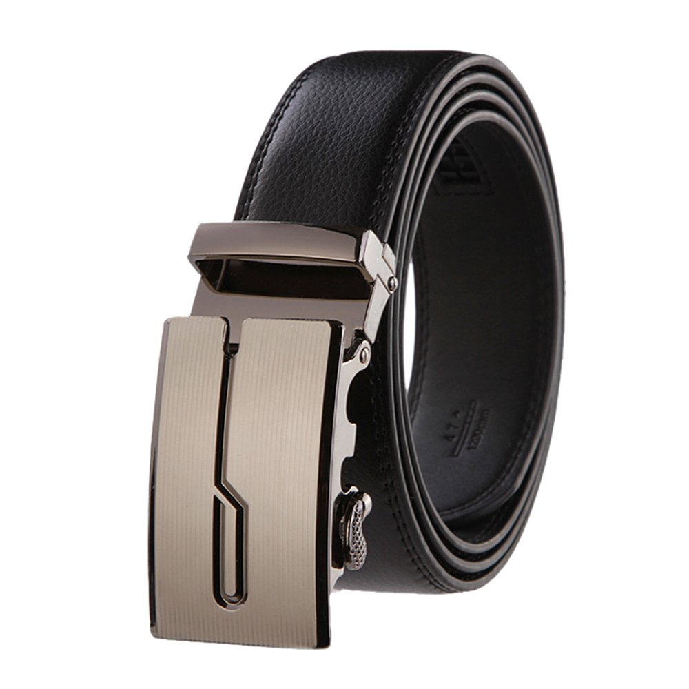 c6ce85a36adf Mens black luxury belts genuine leather auto buckle fashion belt wholesale  at amazon mens clothing store