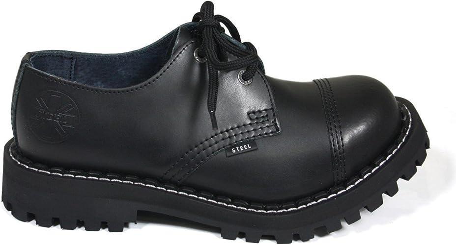 Steels 3 Loch Boots Schwarz