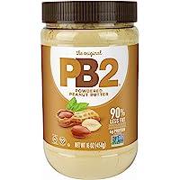 454g PB2 Polvo de Cacahuate Mantequilla, bajo en grasa y bajo en calorías, Powdered Peanut Butter, Net Wt. 16 Oz.
