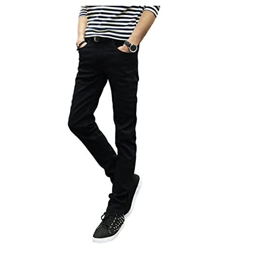 amazaramu_vivi Mens Skinny Slim Fit Jeans Denim Basic ...