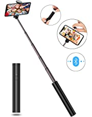 Selfie Stick, JTWEB Extendable Handheld with Built-in Bluetooth Wireless Remote Monopod Mini Pocket Selfie Stick Universal for iPhone XS/XS Max/XR/X/8 Plus/7/7plus/6/6s Android 3.5-6 inch Smartphones