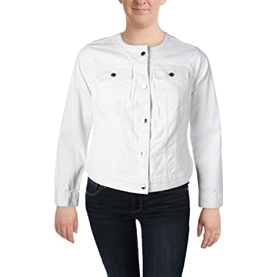 Lauren Ralph Lauren Womens Plus Carstina Button-Up Casual Denim Jacket