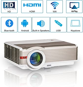 Alto Brillo LED WiFi Bluetooth Home Projector 5000 Lumen Smart ...