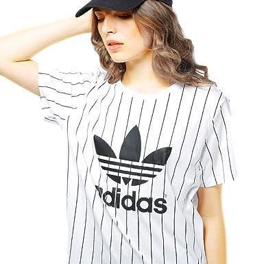 2ab93de114f2a Amazon.com: adidas Women Originals Boyfriend Trefoil Tee #AJ8347 (S):  Clothing