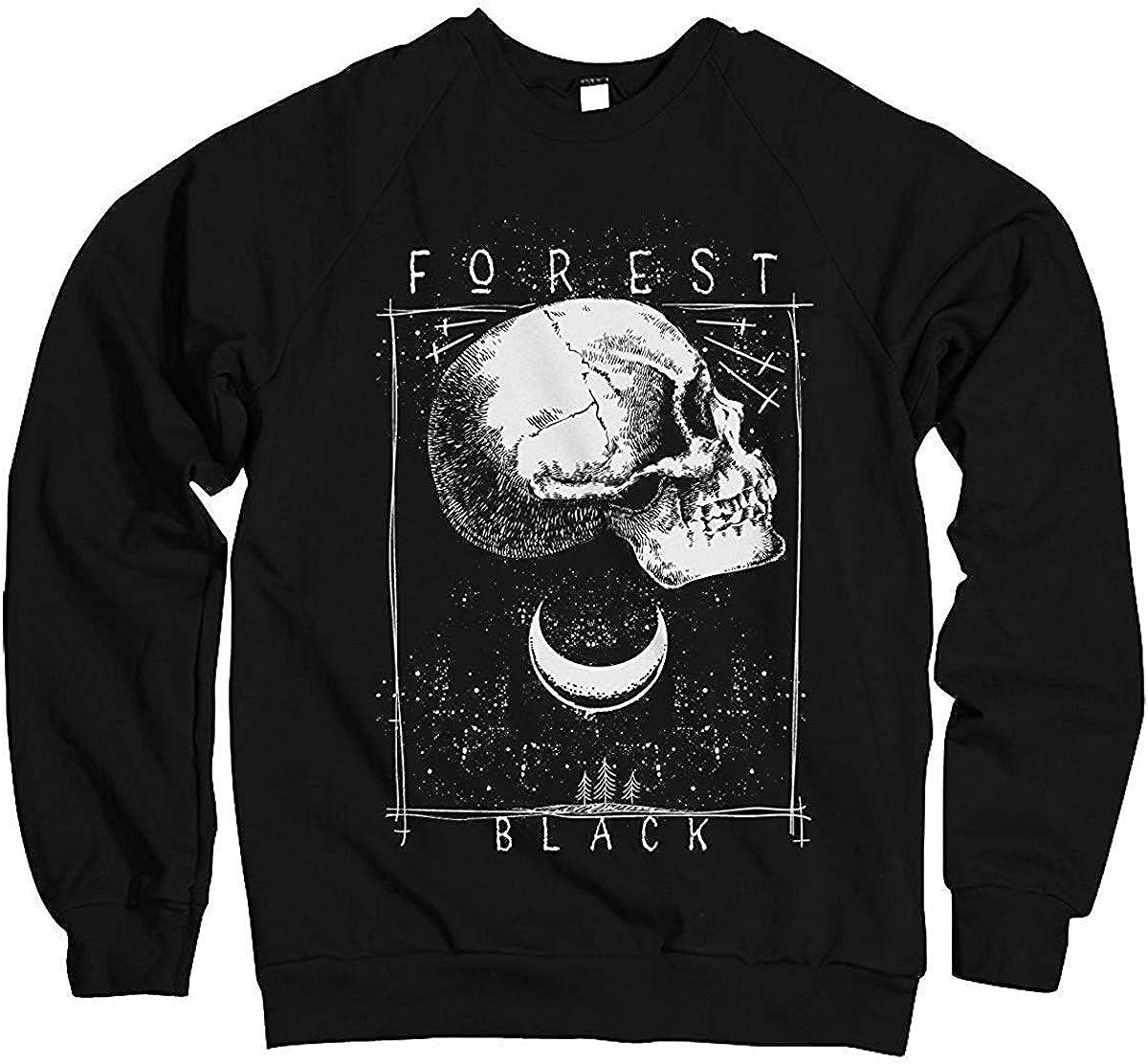 Monkey Print Uomo Felpa Pullover Gotico Punk Foresta Black