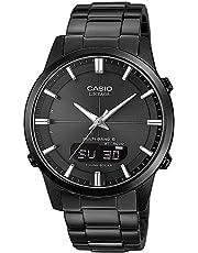 Casio Wave Ceptor Herrenarmbanduhr, Solar und Funkuhr, Saphirglas, massives Edelstahlgehäuse und Armband