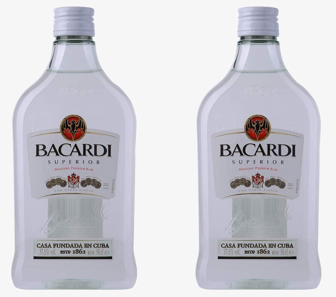 Bacardi Superior Original Premium Rum 2 x 50cl - PET Plastic ...