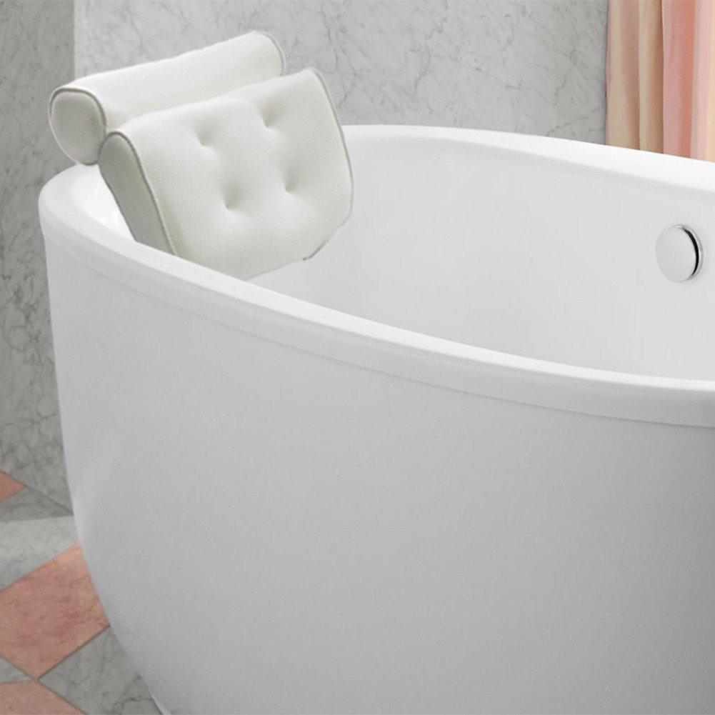 kati-way Bad Kissen, 3D Mesh | Wasserdicht und weich | rutschfest Sucker Spa Kissen für Badewanne Badezimmer Badewanne pillow-comfortable für Kopf und Nacken