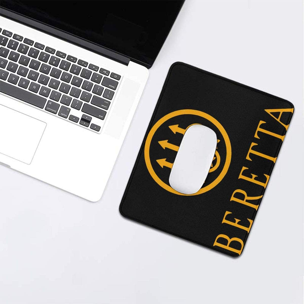 Beretta Orange Logo Pad Fashion Rectangle Non-Slip Rubber Mousepad Outer Space Gaming Mouse