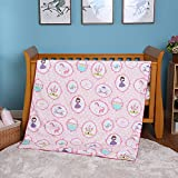 i-baby 4 Piece Crib Bedding Set Nursery Baby Bedding Set 100% Cotton Printed Fitted Sheet Duvet Cover Pillow Toddler Cot Sets for Boys and Girls (Dancing Princess)