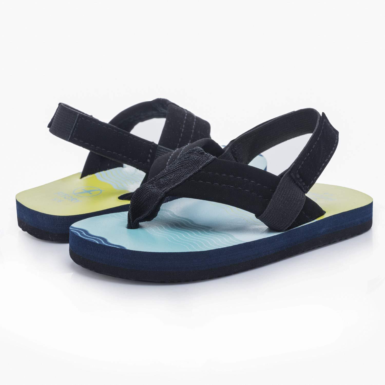 Boys Flip Flops Sandals with Back Strap for Toddler//Little Kid//Big Kid