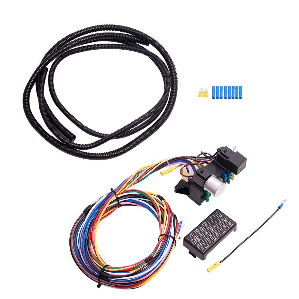 amazon com 12 circuit universal wiring harness muscle car hot rod Muscle Car Light Bar