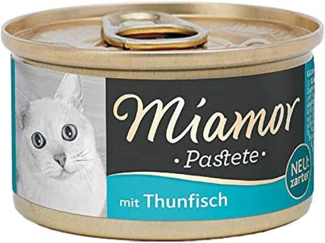 Miamor Paté para gatos, pescado y subproductos de pescado, 12 x 85 g