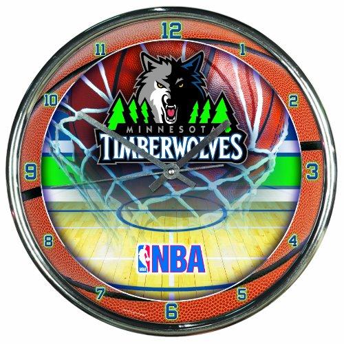 (NBA Minnesota Timberwolves Chrome Clock)