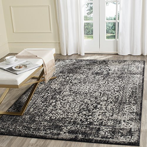 - Safavieh Evoke Collection EVK256R Vintage Oriental Black and Grey Area Rug (5'1