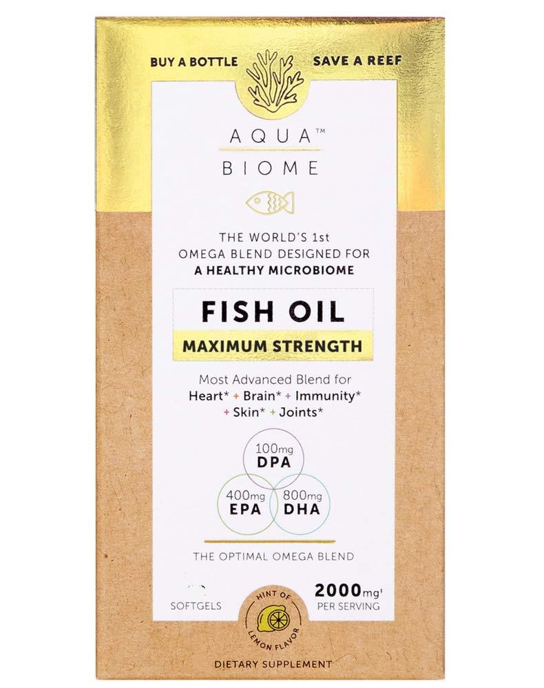 Enzymedica Aqua Biome Fish Oil, Maximum Strength, 120 Count by Enzymedica