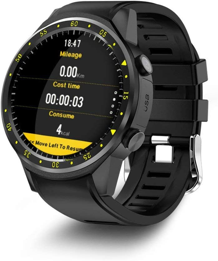 F1 Sport Smart Watch con cámara GPS Soporte Smartwatch Tarjeta SIM Reloj de pulsera negro