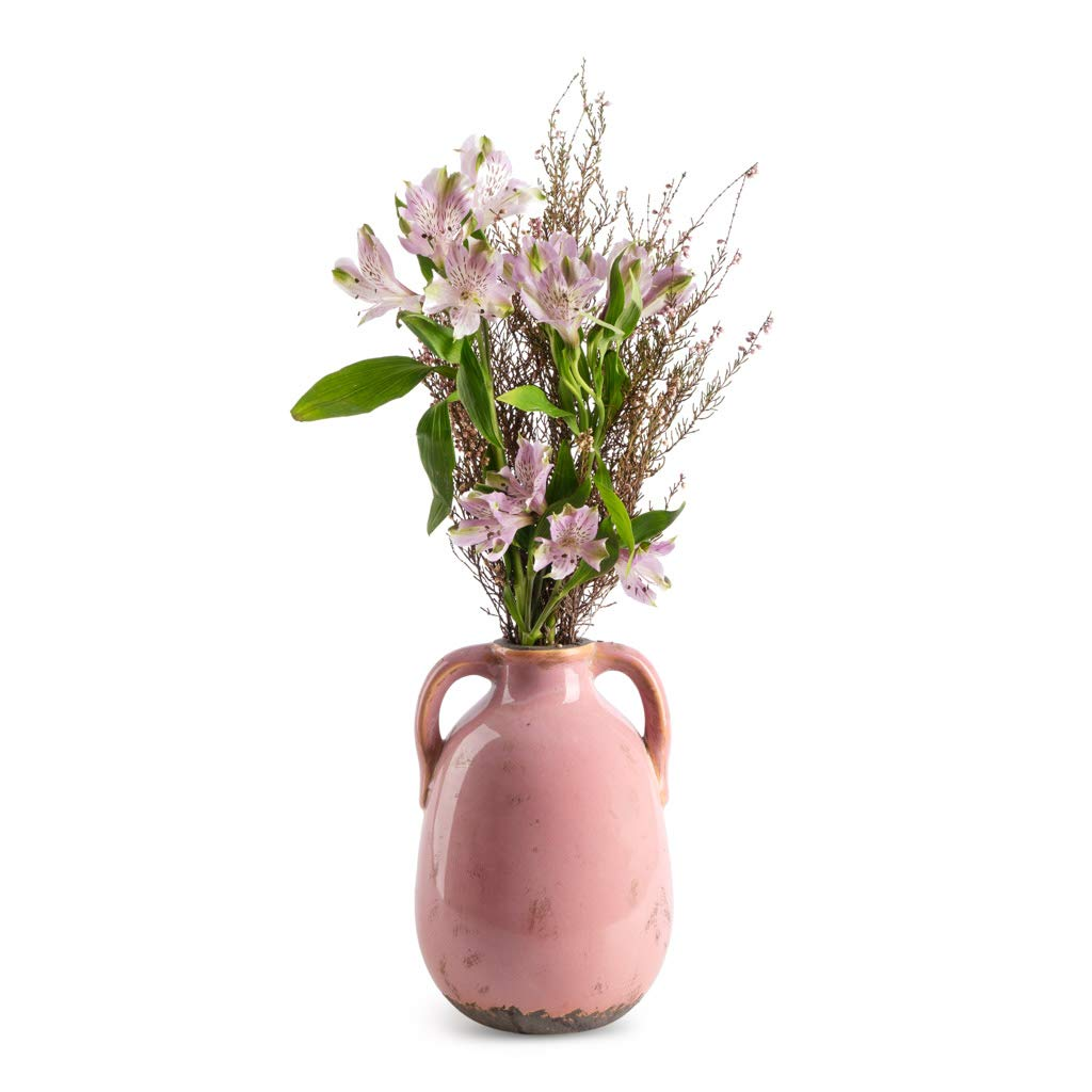 Black Velvet Studio Vase Cantaro color pink ceramic flower vase,19x13x13 cm.