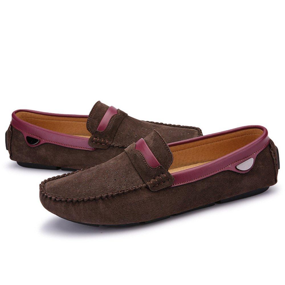 AFCITY Sommer Schweinsleder Schuhe beiläufige Flache (Farbe Ferse Schuhe Klassischer Stiefelschuh (Farbe Flache : Khaki, Größe : 40 2/3 EU) Braun 6e78b9
