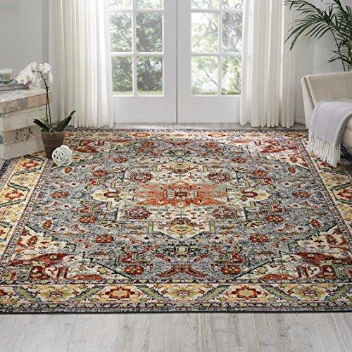 - Nourison Aria (AR001) Oriental Vintage Area Rug, 7 Feet 10 Inches by 10 Feet  (7'10