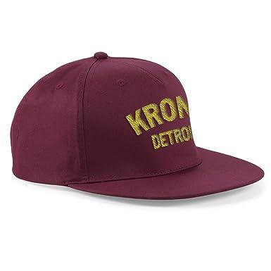 Kronk Boxing Detroit Baseball flat peak Cap snapback BURGUNDY   Amazon.co.uk  Clothing 756a0435096