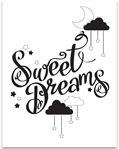 257a23b24 Amazon.com  Black   White Sweet Dreams - 11x14 Unframed Art Print ...