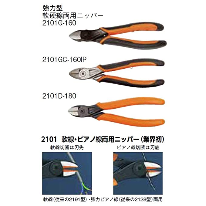 Bahco 2101G-160 Ergo Diagonal Cutting Pliers, 6 1/4-Inch - Side Cutting Pliers - Amazon.com