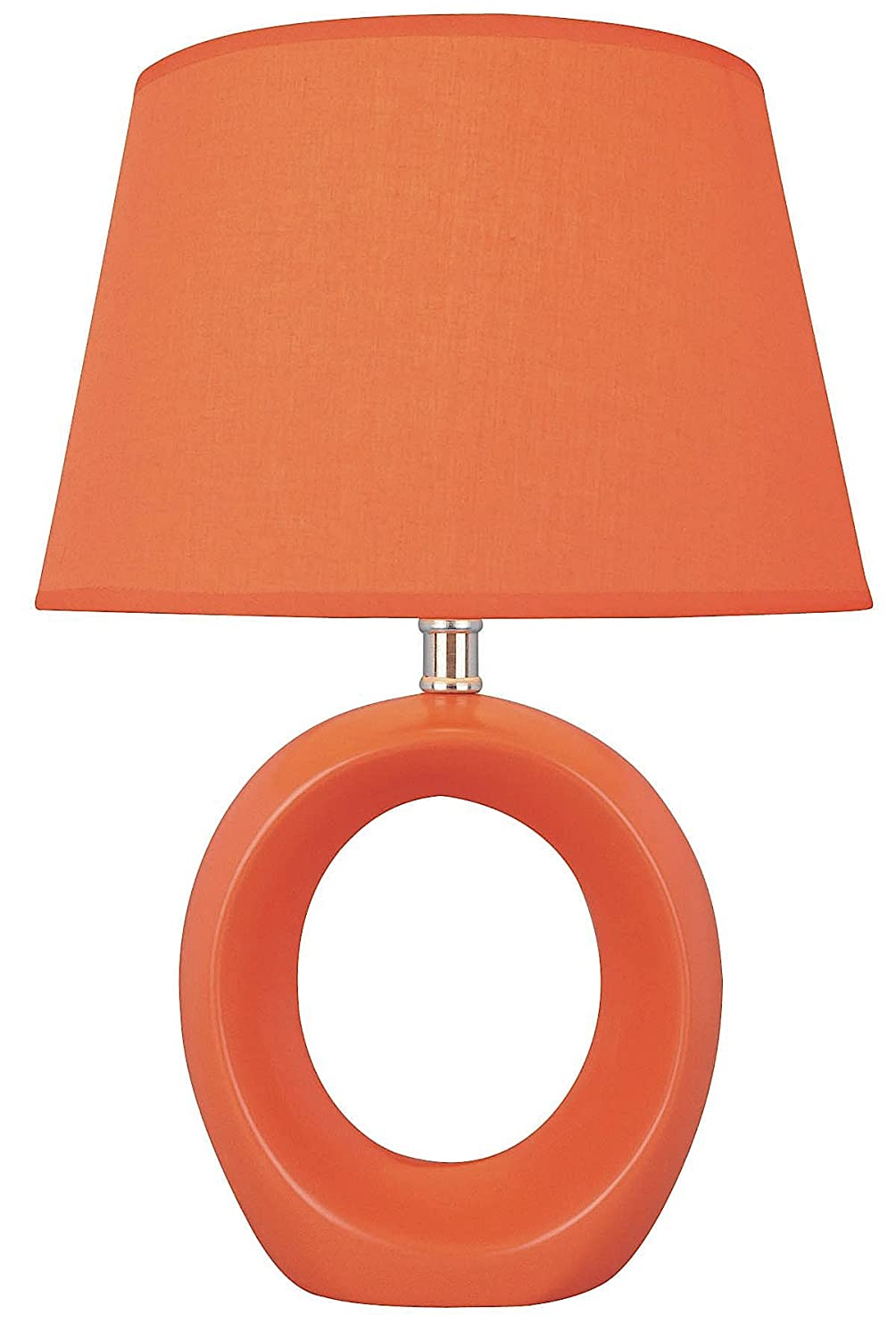 Lite source ls 20585orn viko table lamp orange with donut shaped lite source ls 20585orn viko table lamp orange with donut shaped body amazon geotapseo Gallery