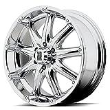 XD Series by KMC Wheels XD779 Badlands Chrome Wheel (18x9''/8x170mm, -12mm offset)