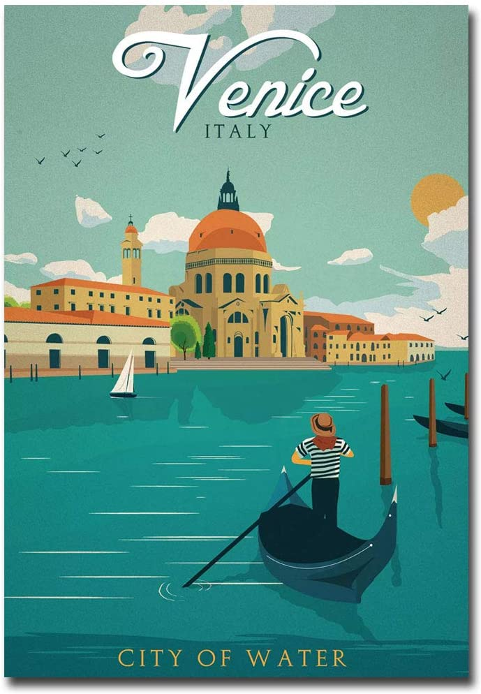 "Venice Italy Travel Vintage Art Refrigerator Magnet Size 2.5"" x 3.5"""
