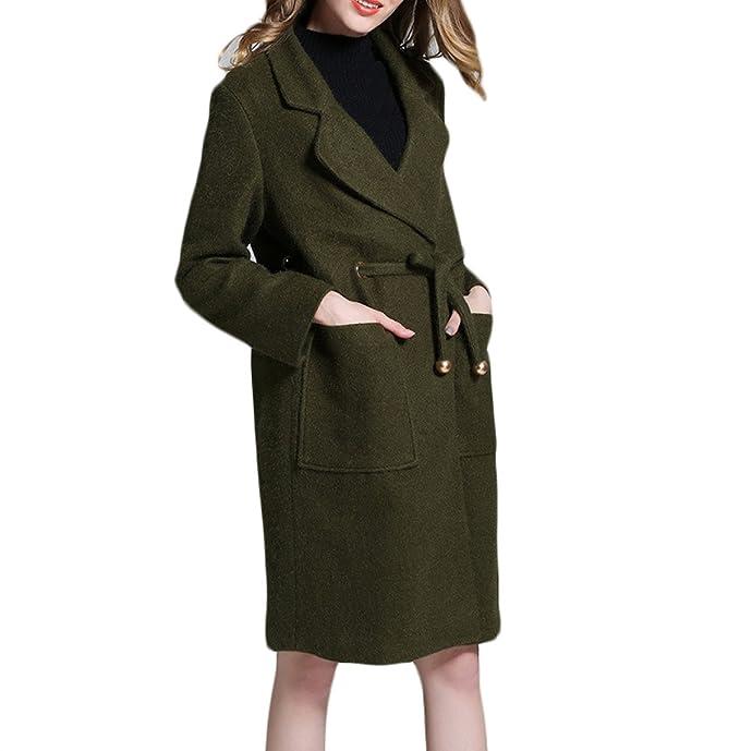 promo code d701b bf0b8 GTYW Cappotto Lungo Donna in Autunno E Inverno Lungo Cotone ...