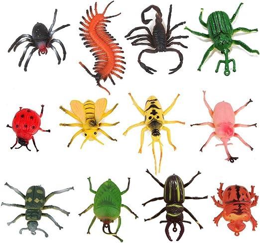 TOYMYTOY 12pcs juguetes modelo de insectos para niños trucos de fiesta (Variodos Colores): Amazon.es: Juguetes y juegos