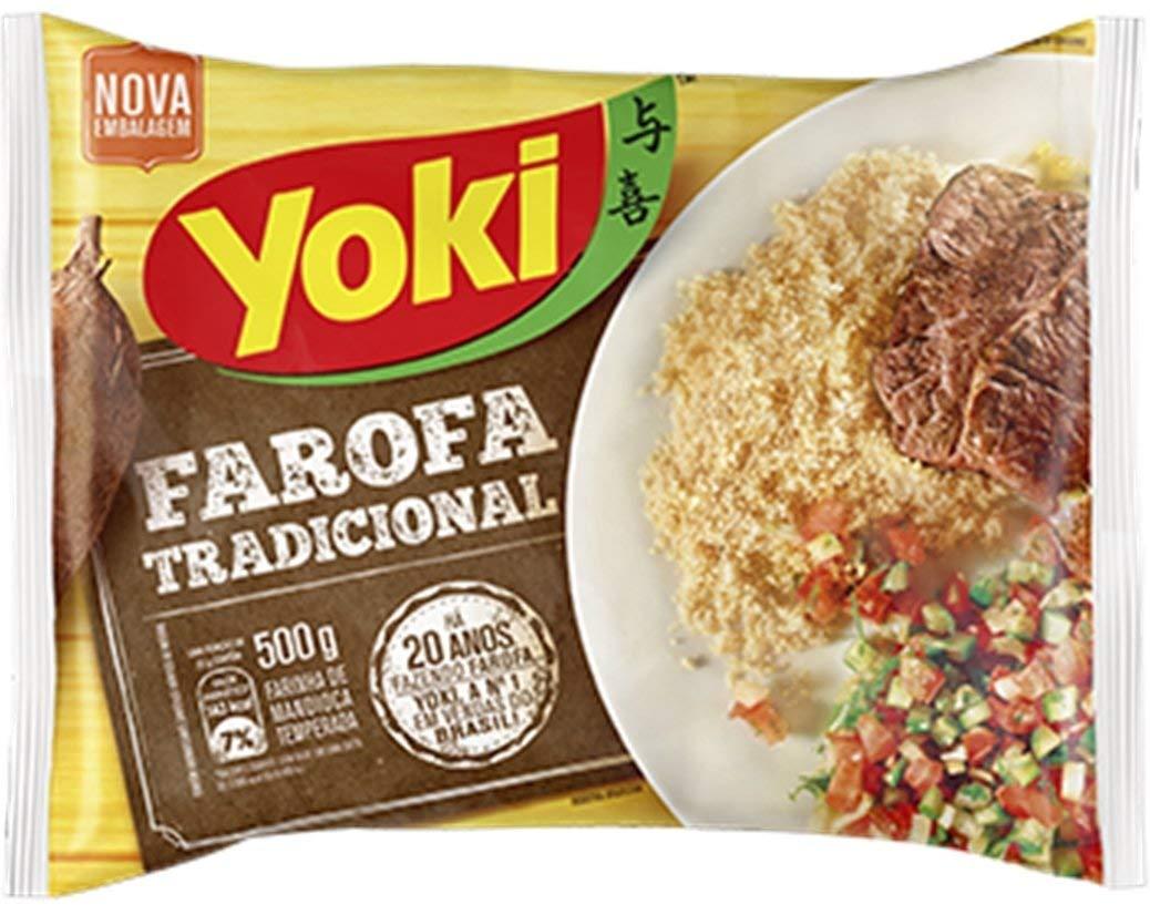 Seasoned Cassava Flour - Farofa de Mandioca Pronta - Yoki - 17.6 oz (500g) - GLUTEN-FREE