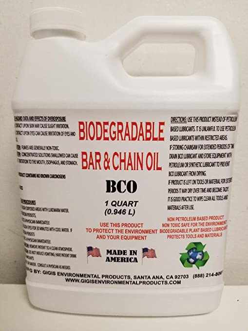 Biodegradable Aceite de barra y cadena: Amazon.es: Jardín