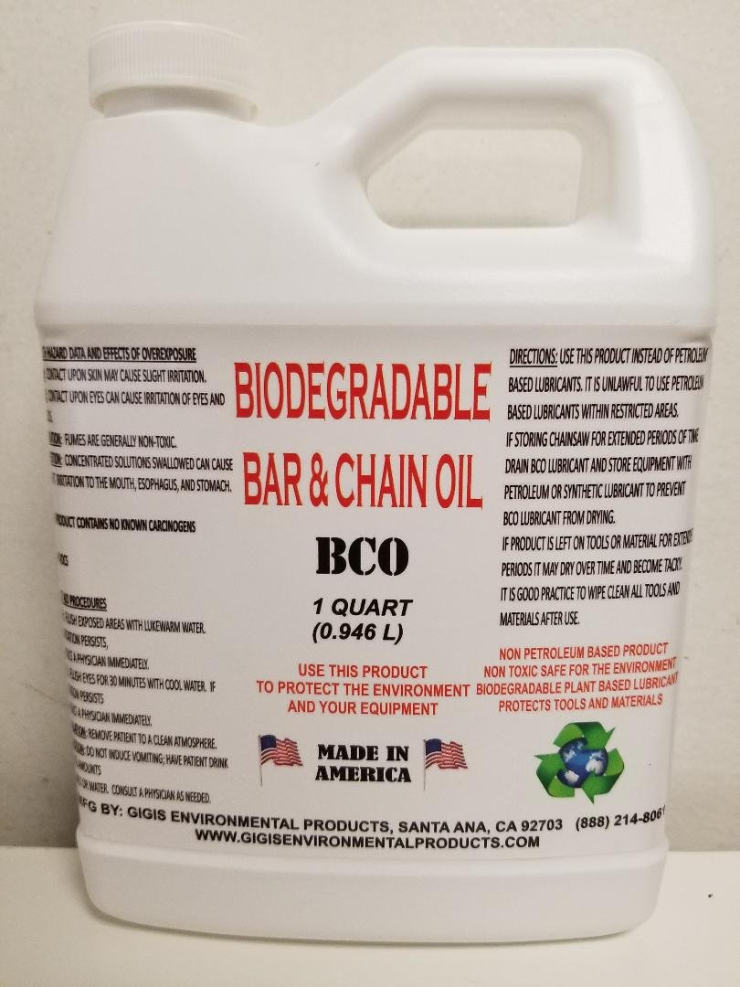 Gigis Environmental Products Biodegradable Bar and Chain Oil