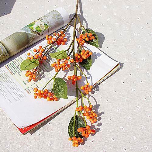Sytaun Arreglo De Escena Flor, 1 Pieza De Bayas Silvestres Artificiales para Decoracion De Bodas Y Centros De Mesa para Fiestas En El Jardin del Hogar Naranja Oscuro