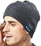 XIKEZAN Unisex Bluetooth Beanie Smart Winter Knit Hat V4.1 Wireless Musical Headphones Earphones w/ 2 Speakers Beanies Hats Cap Unique Christmas Tech Gifts for Teen Young Boys Girls Men Women
