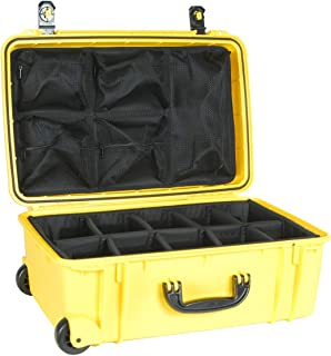 product image for Seahorse Yellow SE920 case with Padded dividers and Lid Organizer.