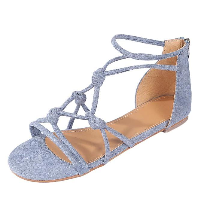 4e7250a2 Mosstars Sandalias Mujer Verano 2019 Planas Mujer Verano Estilo Casual  Playa Sandalias Zapatos Romanos Chanclas Sandalias Mujer Zapatos de Playa  Mujer ...