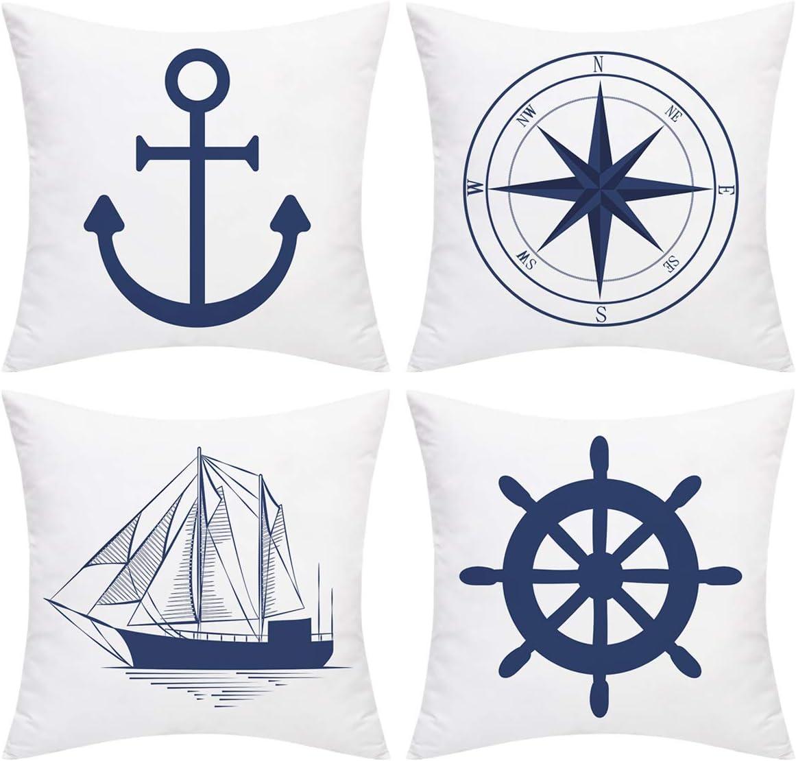 Nautical Sailing Throw Cushions