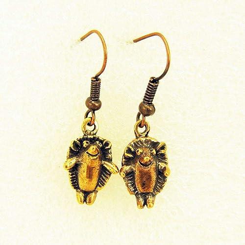 baratas para descuento 86848 fdb9a Aretes De Bronce Los Erizos: Amazon.com.mx: Handmade