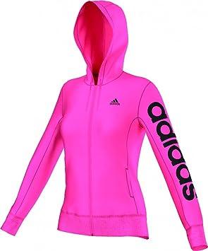 adidas ESS Linear HD - Sudadera para Mujer, Color Rosa/Negro, Talla XS: Amazon.es: Zapatos y complementos