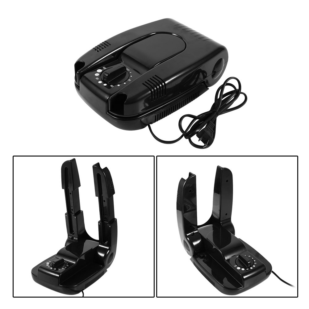 US Plug Electric Shoe Boot Dryer Warmer Intelligent Deodorant Baking Shoes Electric Dryer Deodorant Function Portable Scalable Folding Drying Adjustable Rack for Boots Shoes Socks Glooves Helmet