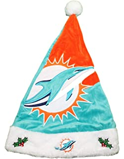 Forever Collectibles Miami Dolphins 2018 NFL Basic Logo Plush Christmas  Santa Hat 83579f824