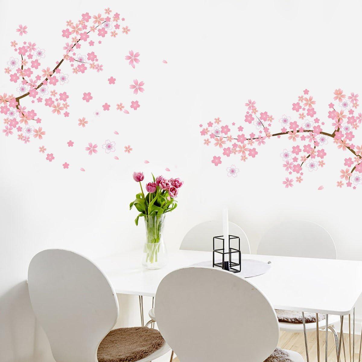 Amazon ウォールステッカー 桜 壁紙 桜吹雪 満開の桜 Wall Sticker ウォールペーパー 壁シール花 ウォールシール 60 90cm ウォールステッカー オンライン通販