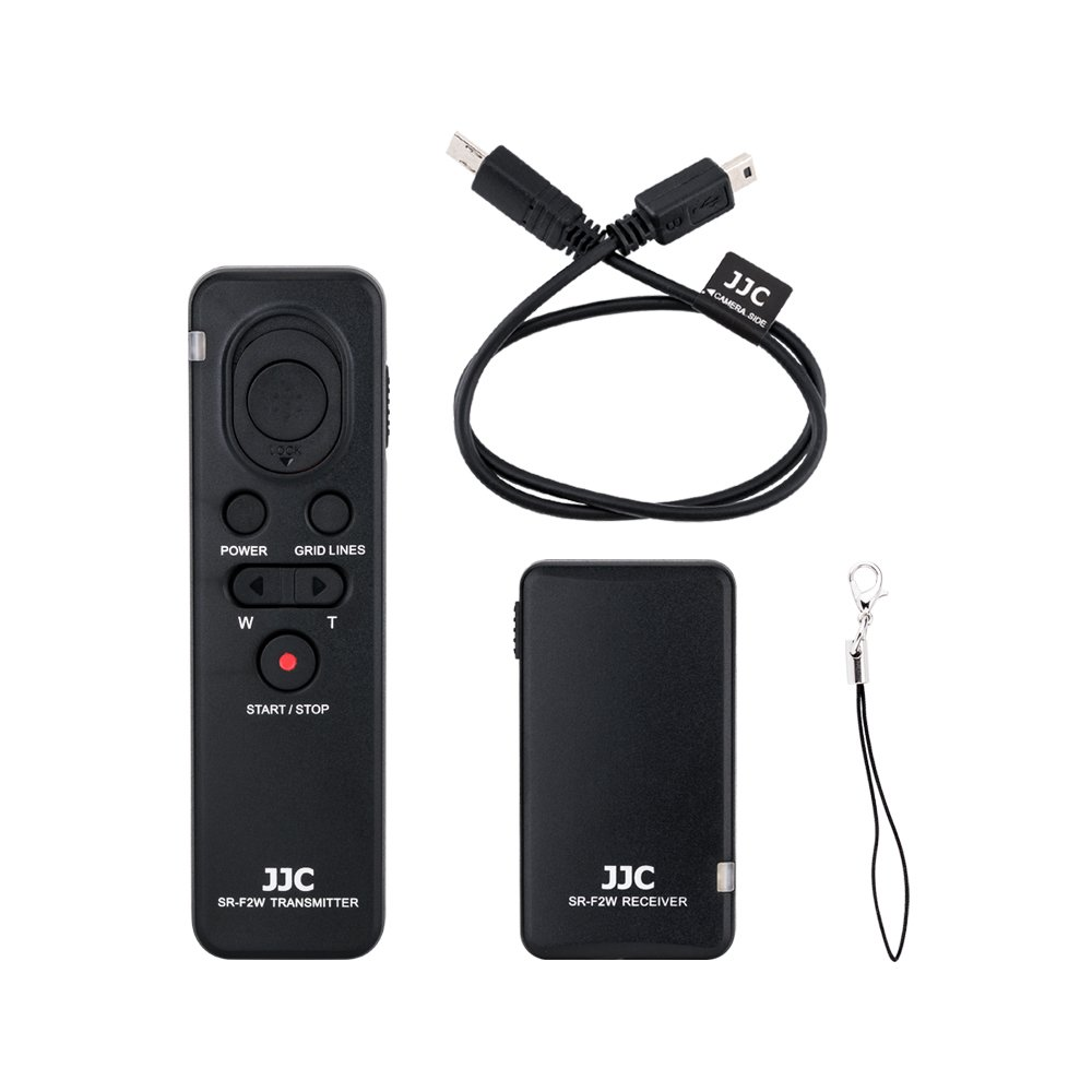 JJC RMT-VP1K Wireless Remote Control for Sony A7R III A7 III A7S II A9 A6000 A6300 A6500 RX1R II RX10 IV RX100 V/Sony FDR-AX33 AX53 AX100 HDR-CX405 CX675 CX900 PJ540 and More Sony Camera and Camcorder
