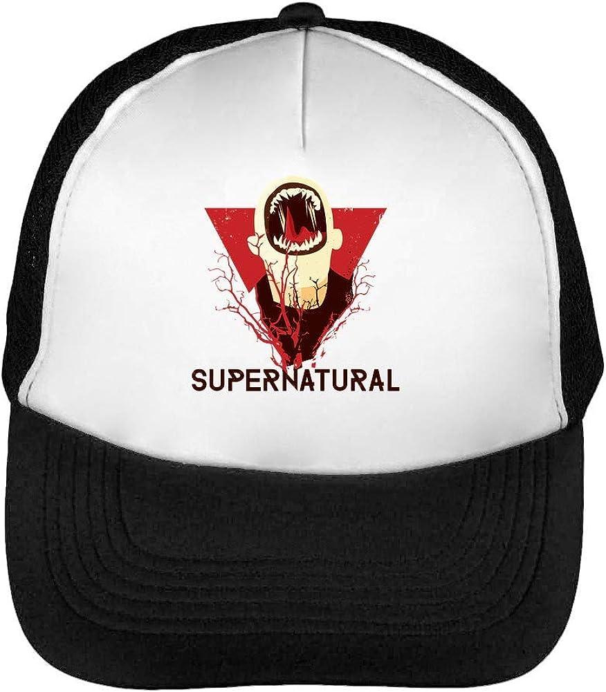 Supernatural x Jaws Gorras Hombre Snapback Beisbol Negro Blanco ...